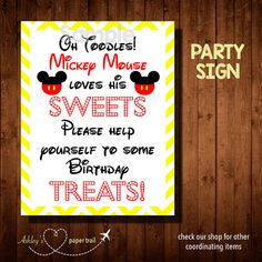 Hey, I found this really awesome Etsy listing at https://www.etsy.com/listing/232608154/mickey-mouse-clubhouse-party-sign