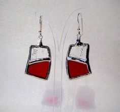 Stained glass earrings by MorencyCollection on Etsy