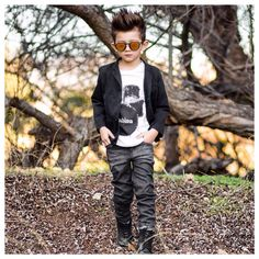 It doesn't get any better than this: the always fashionable @gavinduh rocking our new Slim jean! In perfect style. Pssstt...we are offering his followers an exclusive discount.  Run, don't walk.  PC: The Fabulous Priscilla @gavinduh  #boysfashion #boysjeans #gavinduh #denim #childrensfashion #style #rockstar #swag #braydenslim