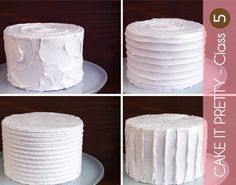 Bird's Party Blog: Cake It Pretty: How to create FOUR different textured buttercream finishes on a cake