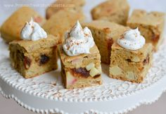 Protein Treats By Nicolette : Caramel Apple Protein Cake Squares
