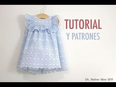 FREE dress pattern (in Spanish) Sewing Kids Clothes, Sewing For Kids, Baby Sewing, Diy Clothes, Kids Dress Patterns, Baby Dress Design, Diy Couture, Kids Outfits, Creations