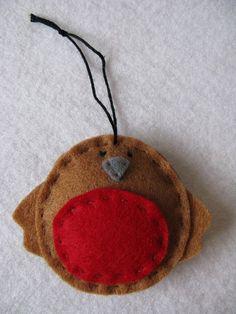 Robin Handmade Felt Christmas Decoration by charmaine*, via Flickr