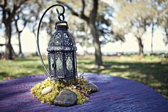 PERFECT! Purple Enchanted Wedding! Use iron as a rustic touch to enhance the theme.