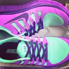 Nike Free Run. Loveee these colors together!! WANT