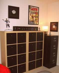 Comic Book Storage File Cabinet Best Home Furniture Design pertaining to measurements 764 X 1337 Comic Book Collection Drawers - Drawer pulls can bring a w Comic Book Rooms, Comic Room, Comic Book Storage, Comic Book Display, Book Displays, Men Apartment, Apartment Ideas, Geek Room, Cabinet Plans