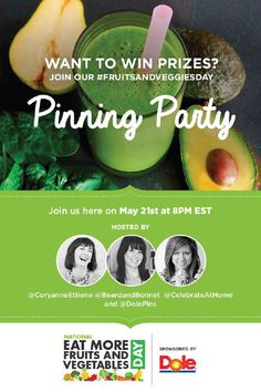 I hope you join us for a super fun #FruitsandVeggiesDay pin party with @DolePins!