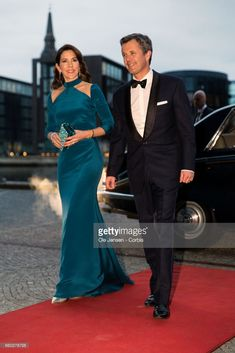 Crown Prince Frederik and Crown Princess Mary of Denmark arrive to the visiting Royal Belgian couples return arragenemt at the Black Diamond on March 29, 2017 in Copenhagen, Denmark. This event completes King Philippe's and Queen Mathilde's 2 days state visit to Denmark.