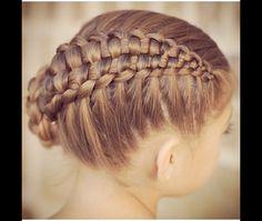 Cute girl hairstyles zipper braid