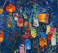 Brian Mahieu - Paper Lanterns and Dahlias