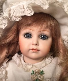 Kammer and Reinhardt, Simon Halbig 117 Reproduction Antique Composition Art Doll by Beverly Brown BCB 1983. Beautifully made. Gorgeous blue eyes. Long ash blonde hair. Bisque porcelain head. Composition body with wooden legs jointed at the hips and knees. | eBay!