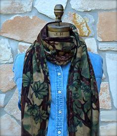 Camo Fleece Scarf Camouflage Fleece Scarf Boys by ShabbyRanch