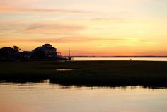 Jersey Shore Sunrise  Yellows by cateomalley on Etsy