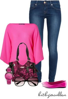 """Pink!"" by bitbyacullen ❤ liked on Polyvore"