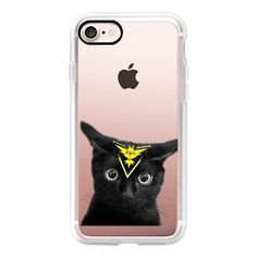 Pokemon Go -Instinct team- Cat - iPhone 7 Case, iPhone 7 Plus Case,... ($40) ❤ liked on Polyvore featuring accessories, tech accessories, iphone case, slim iphone case, iphone cases, apple iphone case, iphone cover case and cat iphone case