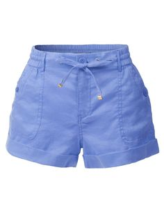 Womens Casual Loose Pleated Shorts with Elastic Waist Basic Shorts, Loose Shorts, Pleated Shorts, Stretch Shorts, Linen Shorts, Casual Shorts, Teen Fashion Outfits, Short Outfits, Tie Dye Tops