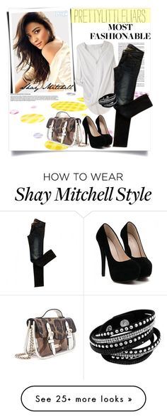 """Pretty Little Liars/Shay Mitchell"" by clotheshawg on Polyvore featuring Helmut Lang, AllSaints and Mohzy"
