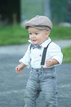Little gentleman with flat cap #baby boy