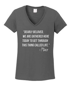 Love this Charcoal 'This Thing Called Life' V-Neck Tee on #zulily! #zulilyfinds