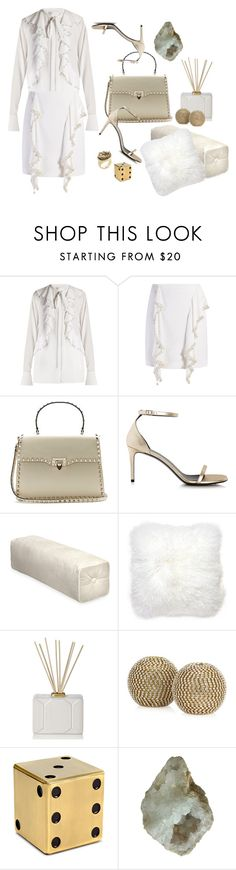"""Valentino Cream"" by jacque-reid ❤ liked on Polyvore featuring Givenchy, Valentino, Yves Saint Laurent, Jonathan Adler, Nest Fragrances, L'Objet, C. Wonder, Threshold and valentino"