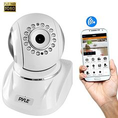 Pyle PIPCAMHD82 Full HD 1080P Wireless IP Security Surveillance Camera with SD Card Slot PTZ: Pan and Tilt Control 2 Way Audio and 16 Night Vision LEDs  P2P Remote Monitoring for your Home on a Desktop or the Apple Android Mobile App Review https://wirelesssecuritycamerasusa.info/pyle-pipcamhd82-full-hd-1080p-wireless-ip-security-surveillance-camera-with-sd-card-slot-ptz-pan-and-tilt-control-2-way-audio-and-16-night-vision-leds-p2p-remote-monitoring-for-your-home-on-a-des/