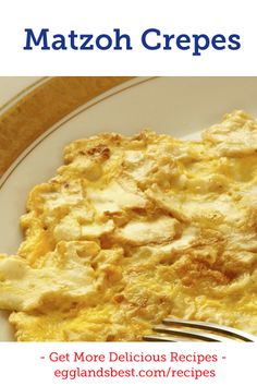 Sweet or savory, Matzoh Crepes are a must-have! #EBeggs #Passover #Crepes #Recipes