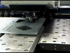Sheet metal CNC punching of UK light fittings using a Trumpf CNC punch press with chute