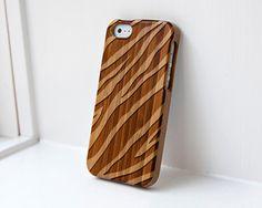 Custom iphone Bamboo case engraved Zebra Print $34.99