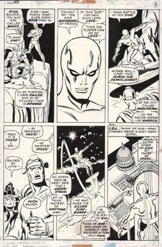 The Marvel Age of Comics Comic Book Pages, Comic Book Artists, Comic Books, Sal Buscema, John Buscema, Silver Surfer, American Comics, Tarzan, Art Auction