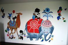 Een prachtige muurschildering van Jip en Janneke!