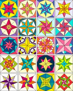 Compass Point Stars | Products | The Electric Quilt Company