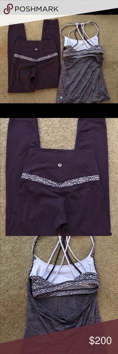Lululemon outfit bundle. EUC. Size 4 Lululemon outfit bundle. Original align pant Zinfandel with matching top. EUC. Both Size 4 lululemon athletica Other