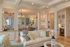 Living room in TRADITIONAL style with clean, classic colors that definitely create a great atmosphere and style.