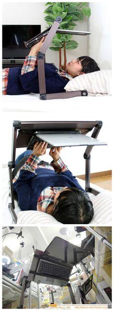 Lazy laptop table