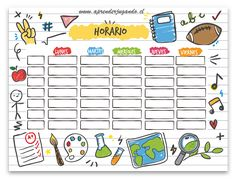 Table chart for kids Times Tables Time Table Chart For Kids School Timetable Template With Hand Drawn School Objects Worksheet Maker Sciencenotesorg Time Table Chart For Kids School Timetable Template With Hand Drawn - ixiqi Timetable Template, Learning Spanish For Kids, Learn Spanish, Study Spanish, School Timetable, Worksheet Maker, Diy And Crafts, Paper Crafts, Bullet Journal School