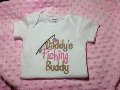 Embroidered Onesie daddy's little Fishing by DeepSouthHomespun, $15.00
