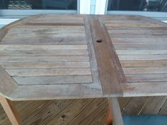 Outdoor Dining Table before staining