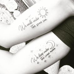 Image result for we share the same sun tattoo