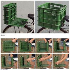 Handmade Bicycle Seat and Box