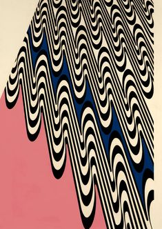 Franco Grignani, Wavy projection, 1965 [from GARADINERVI] Perceptual Illusions, 1950s Ads, Font Face, Op Art, Magazine Design, Abstract Pattern, Textures Patterns, Cool Drawings, Porto