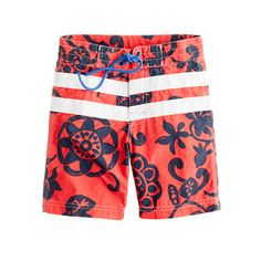 Boys' board short in racing stripe floral - AllProducts - sale - J.Crew