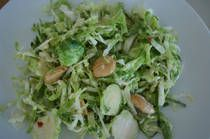 Spicy Brussels Sprouts Salad With Almonds andMint