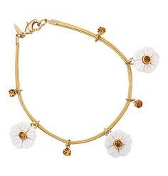 Genuine Mother-of-Pearl Flower Bracelet
