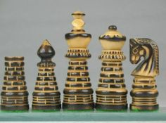 Handcarved New Design Chess Set Burnt Wood w/o Board. http://www.chessbazaar.com/chess-pieces/wooden-chess-pieces/handcarved-new-design-chess-set-burnt-wood-w-o-board.html