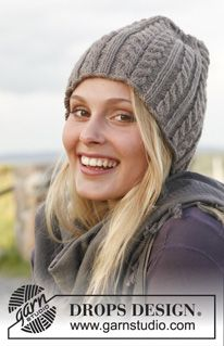 Ravelry: Ice Age - Hat with cables in Lima pattern by DROPS design Knitting Patterns Free, Free Knitting, Baby Knitting, Free Pattern, Crochet Patterns, Drops Design, Magazine Drops, Knit Crochet, Crochet Hats