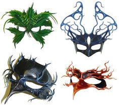 Masquerade Mask Designs | It's like these masks by Morgan Hersey: