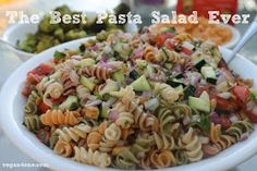 Vegan4One: The Best Pasta Salad Ever.