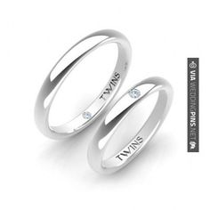 Imagenes de Anillos de Boda [Pareja de Alianzas Twins Platino] [Wedding Rings – Platinum] | Wedding Pins! The Best Wedding Picture Ideas! Create Your Wedding Picture List Today!