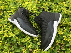 Perfect Air Jordan 12 Black Nylon Shoes on sale at www.cheapjordan.club