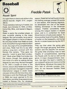 1977-79 Sportscaster #5409 Freddie Patek Back
